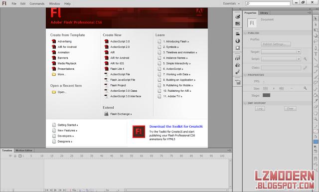 Adobe Flash CS 6 Professional Full Version Portable