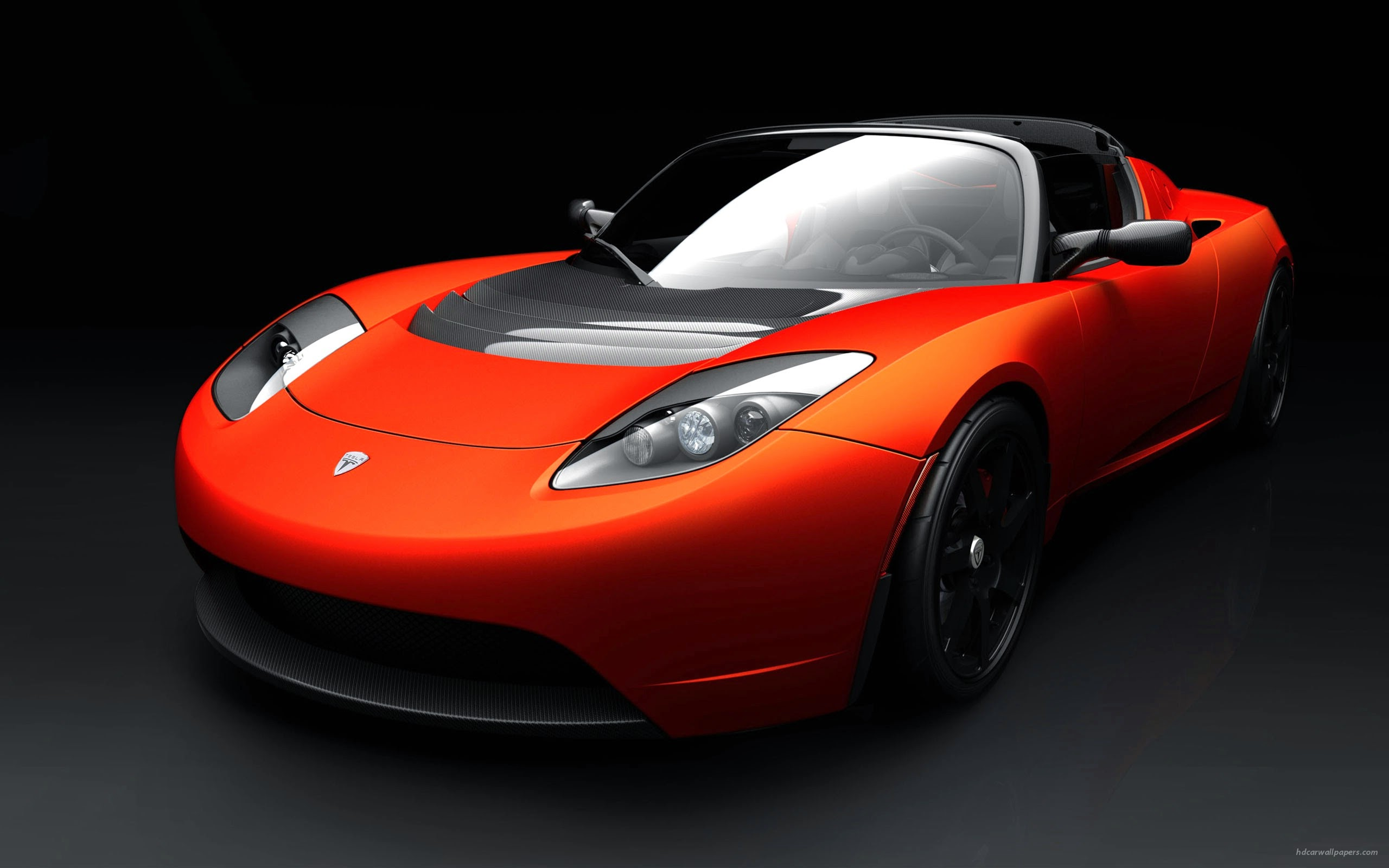 Teslaroadstersportscar Wide