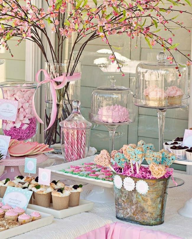 mesa dulce romantica