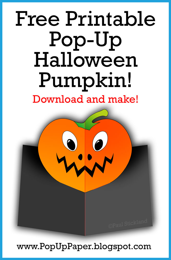 pop up card templates, free pop up cards, pop up pumpkin, pop up halloween card,
