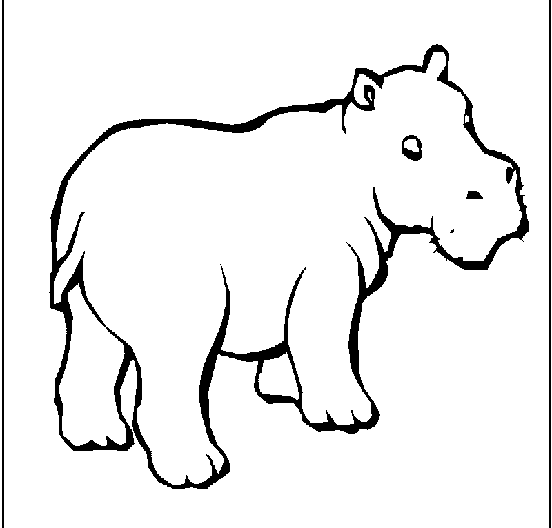 cute hippo coloring pages to kids