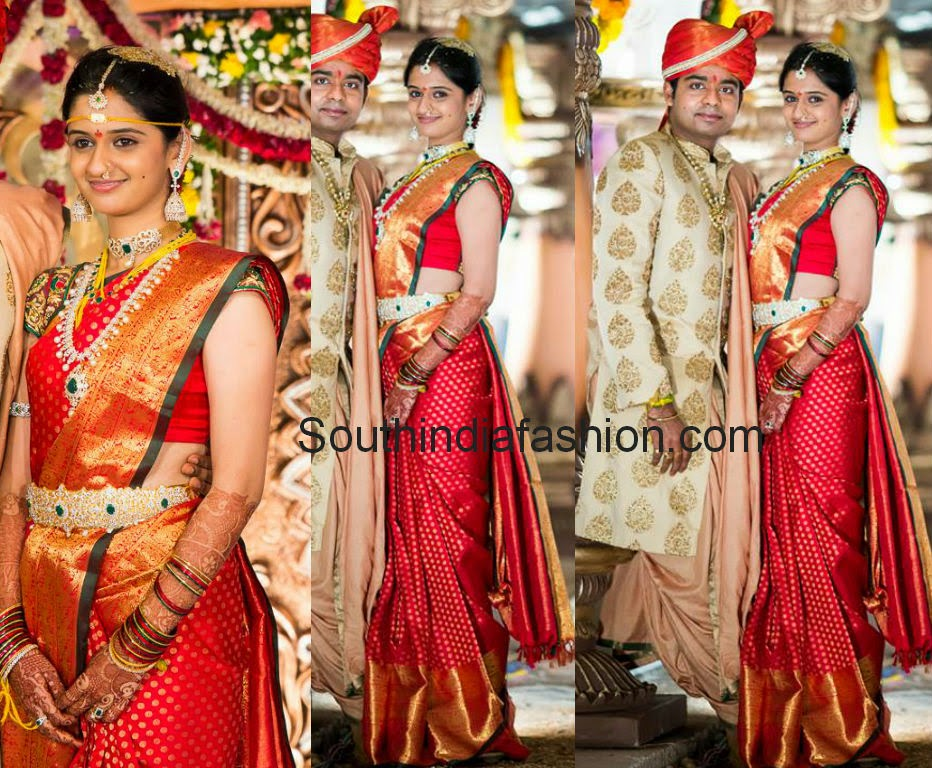 pretty brides in bridal sarees