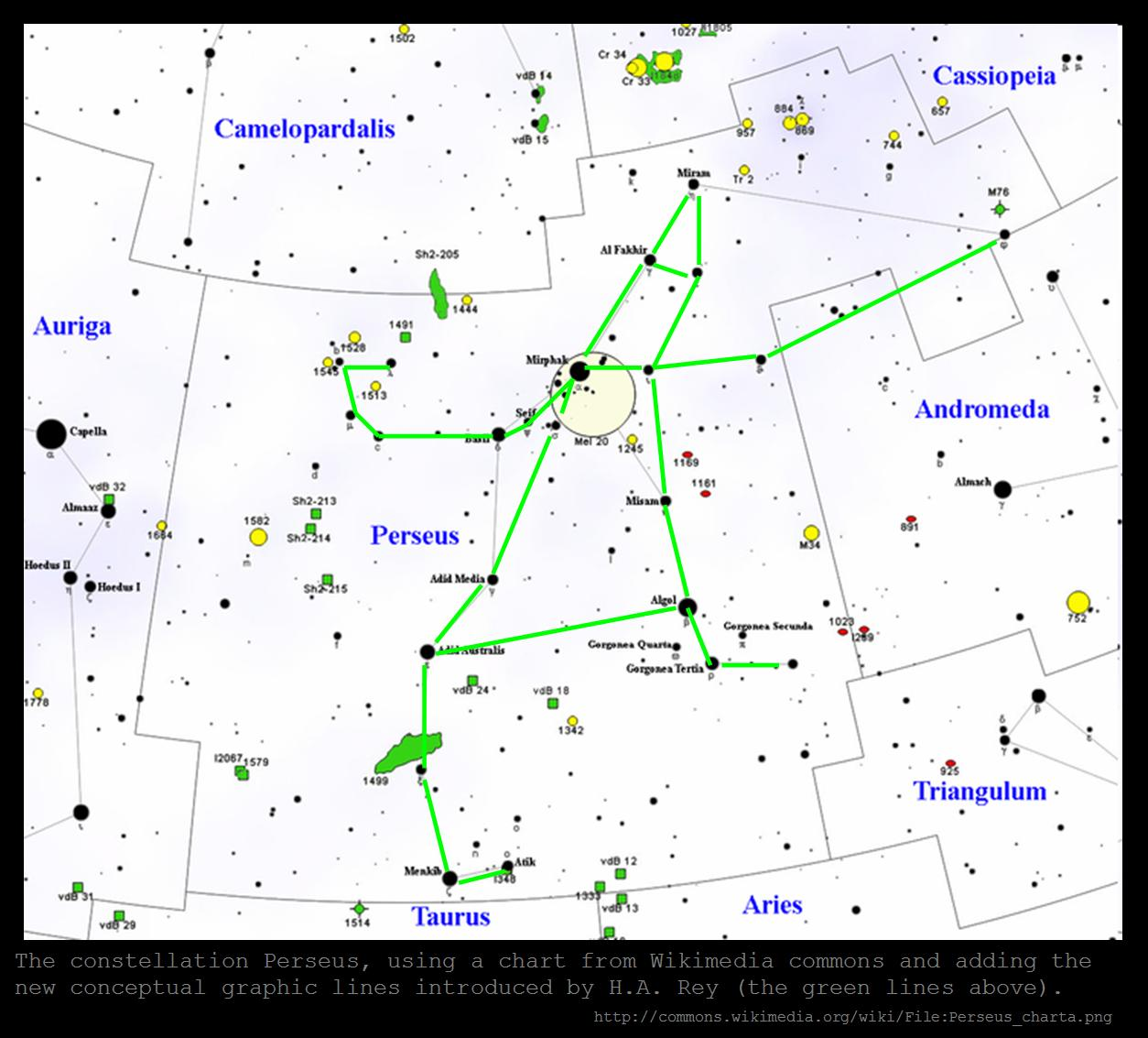 how to find perseus constellation