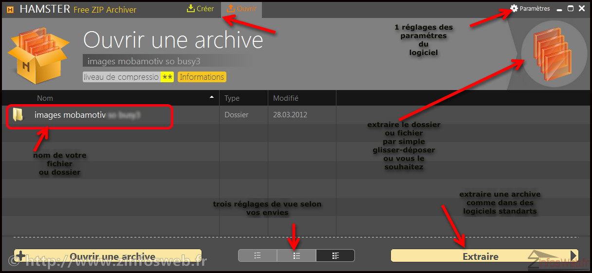 Hamster zip archiver un logiciel de compression gratuit original et de qualit zinfosweb - Hamster gratuit ...
