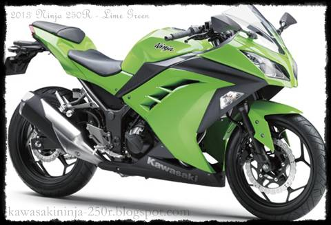 2013 Kawasaki Ninja 250R lime green color