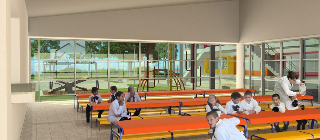 Ideas arquitect nicas proyecto de escuela en bella uni n sur for Comedor de escuela