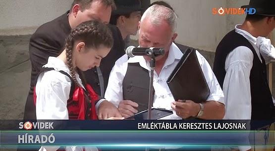 Emléktábla Keresztes Lajos birkózó születésének 115. évfordulóján