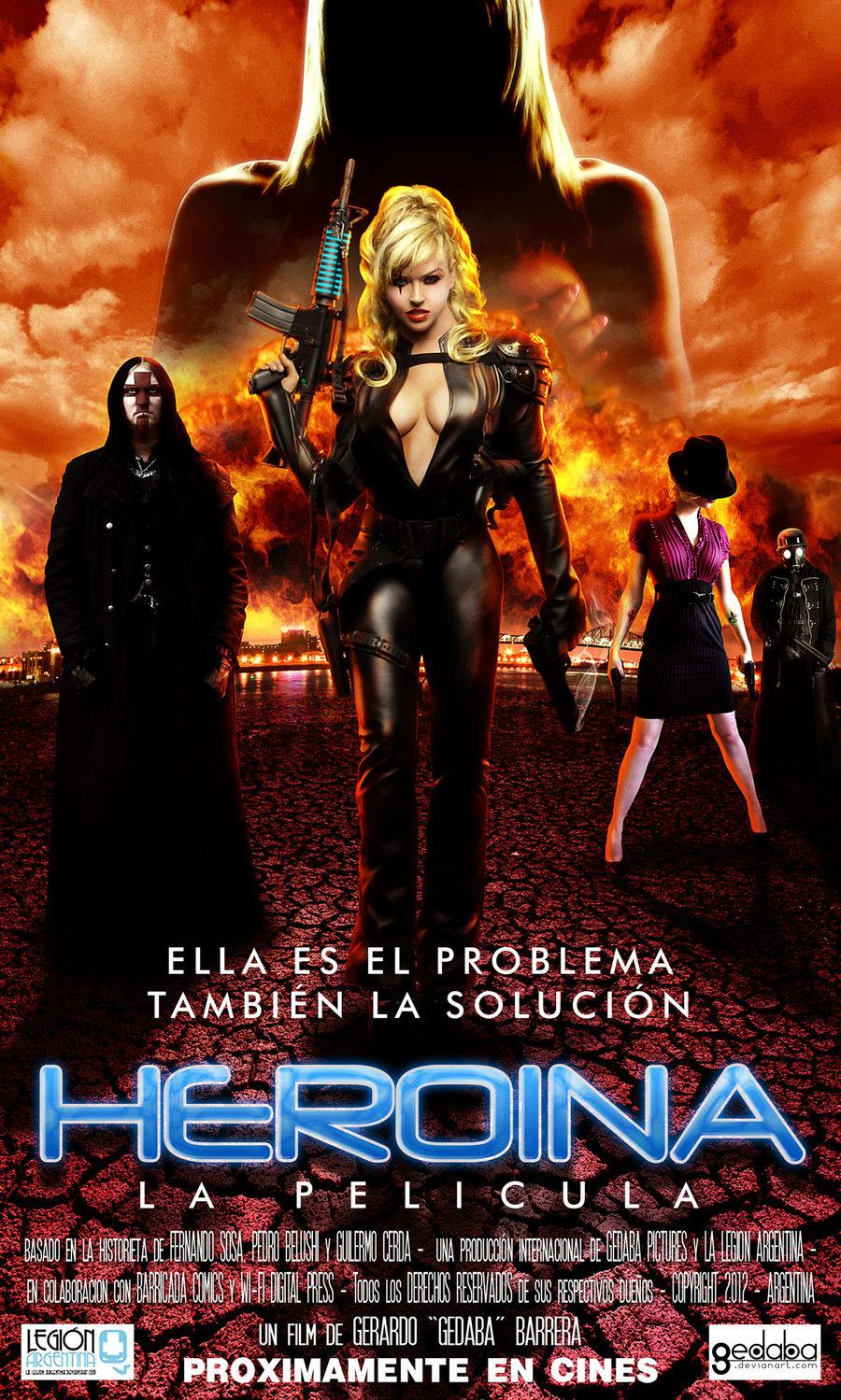 Esto es muy groso,Heroina como un poster de pelicula.,me quede sin ...