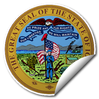 Sticker of Iowa Seal