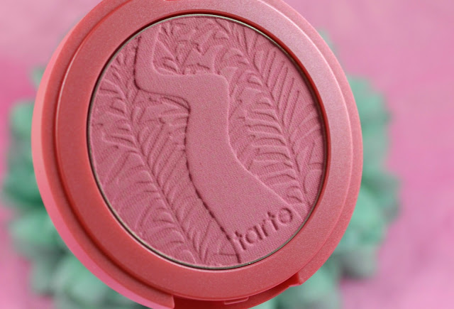 Tarte - Amazonian Clay 12 hour blush - blusher - pink blusher - review - wearing product - swatch - dollface - cool toned blusher - blue toned blusher