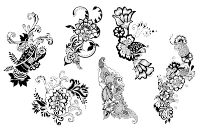 Floral decorations vector pack