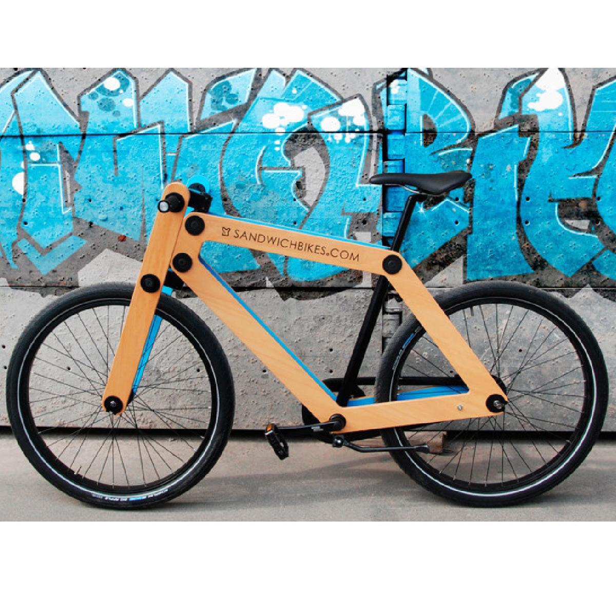 cadeaux 2 ouf id es de cadeaux insolites et originaux le sandwichbikes un v lo en bois en kit. Black Bedroom Furniture Sets. Home Design Ideas