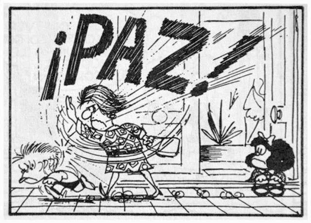 Paz, Quino, Mafalda, Senhora Simbólica