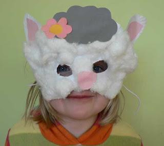 Maschera da Pecorella realizzata riciclando Piatti di Carta
