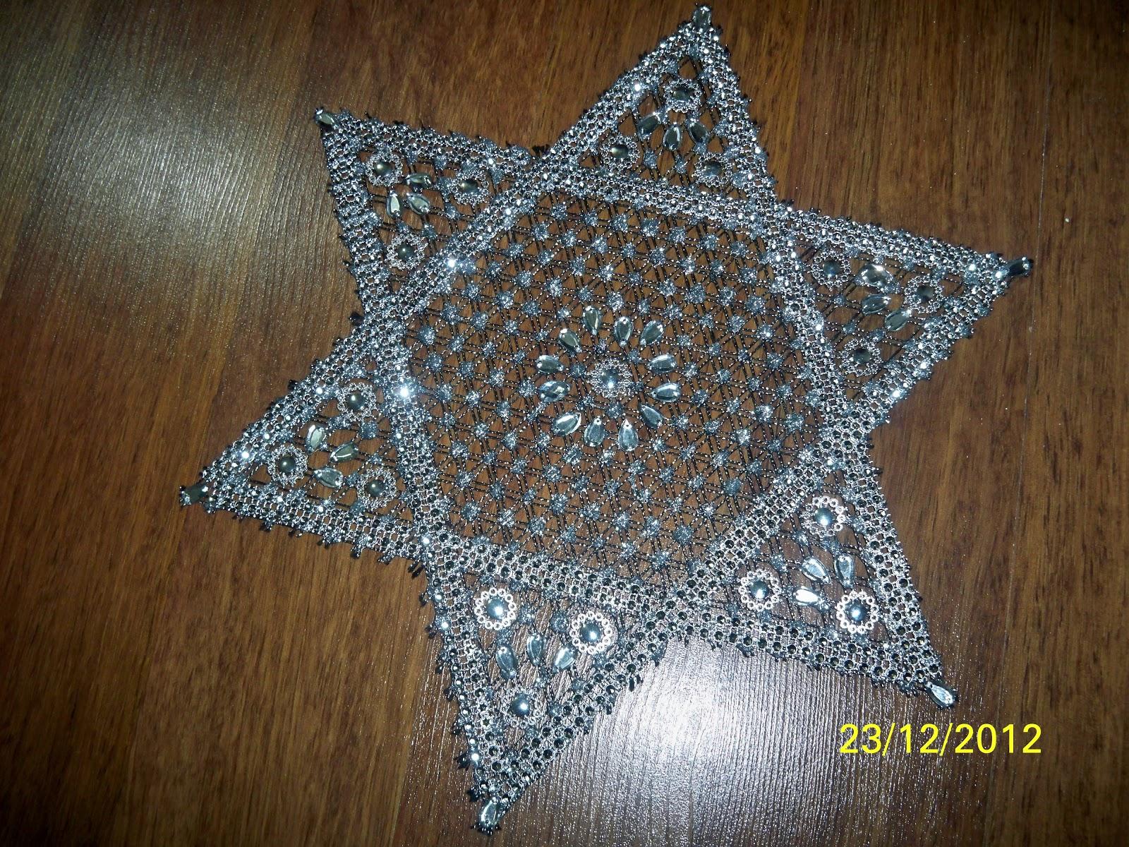 daha göstermek isterim :) Yıldız motifli çivili kasnak işim