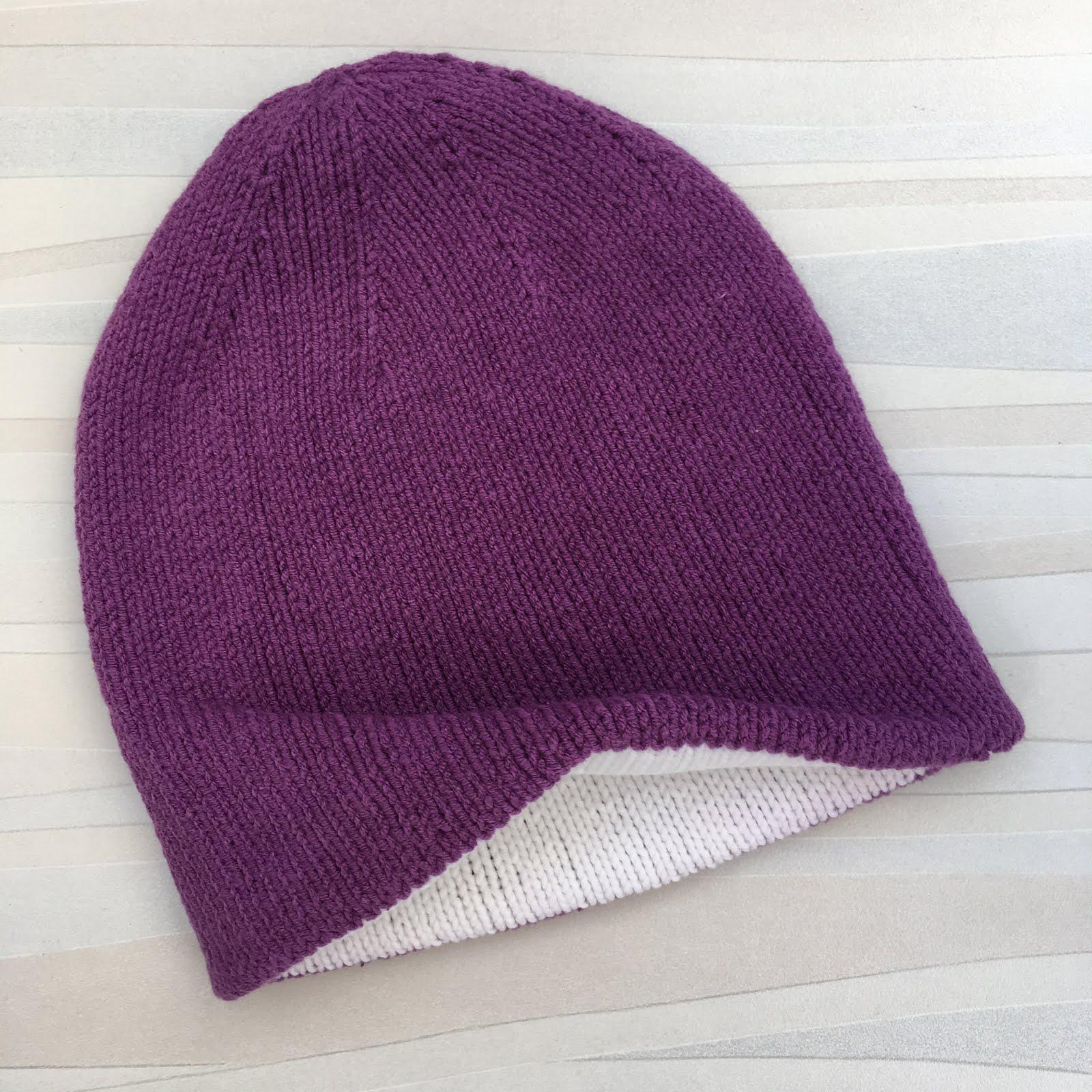 Двусторонняя шапочка для малыша