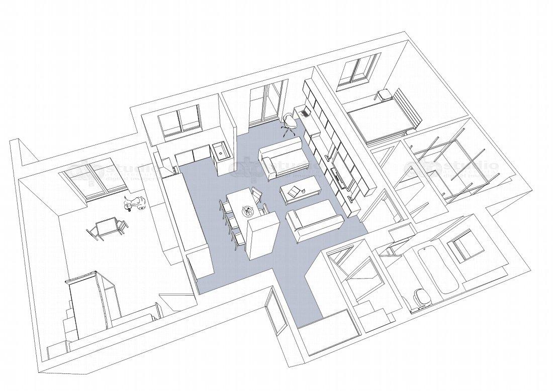 Amato Ristrutturazione appartamento 90 mq - ATP STUDIO ND16