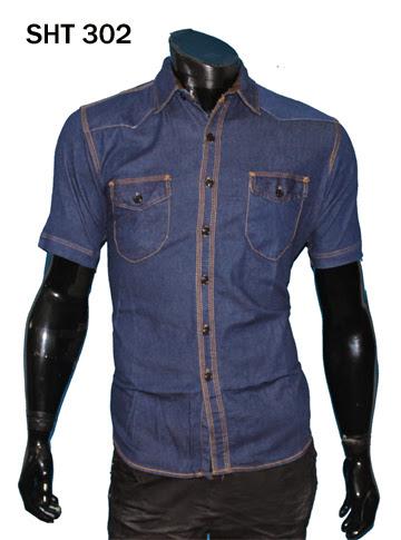 Jual Kemeja Jeans Lengan Pendek – SHT 302
