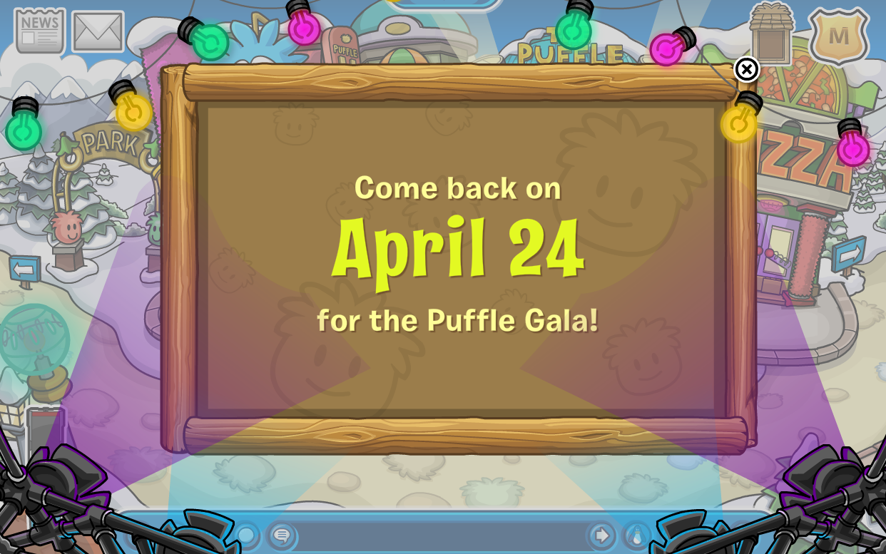 Club Penguin Puffle Gala locked