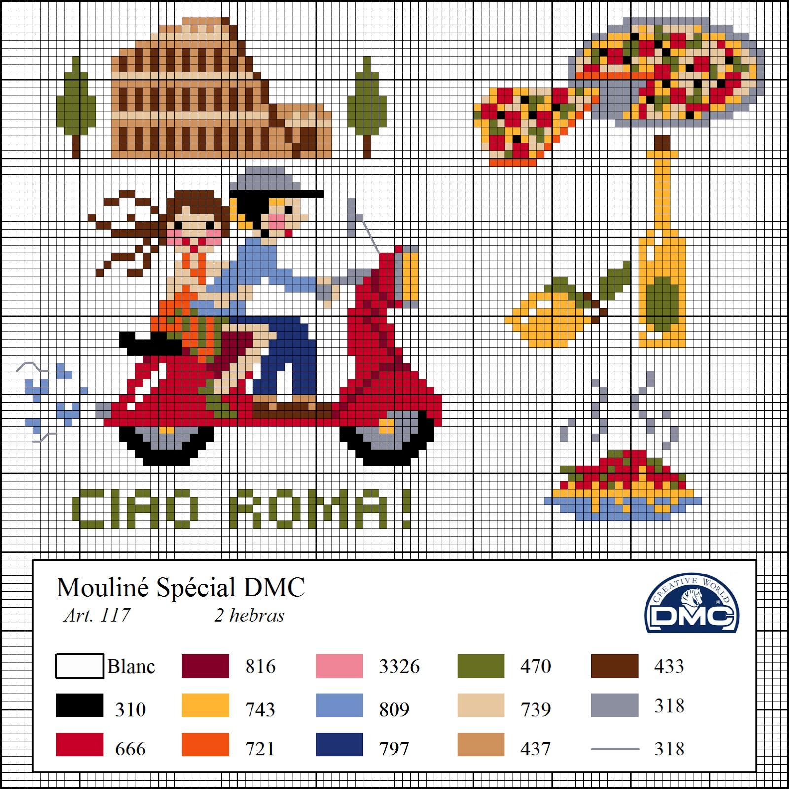 El blog de dmc diagramas de punto de cruz de viajes - Videos de punto de cruz ...