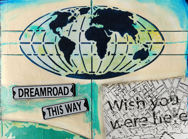 Stencilgirl talk find something to love in this eclectic release of when asked about her love of maps mary said i find inspiration in vintage atlases i collect fascinated by the antiquated pages and the ideas of time and gumiabroncs Gallery