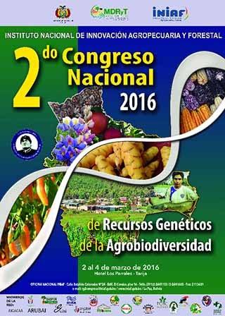 """""""II CONGRESO NACIONAL DE RECURSOS GENÉTICOS DE LA AGROBIODIVERSIDAD"""""""