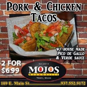 Mojos Pork Tacos