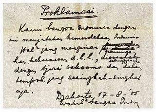 Naskah Otentik Proklamasi Kemerdekaan Indonesia, 05/45?