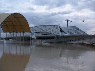Teatro EXPO Crecida del río Ebro 22/01/2013 Zaragoza