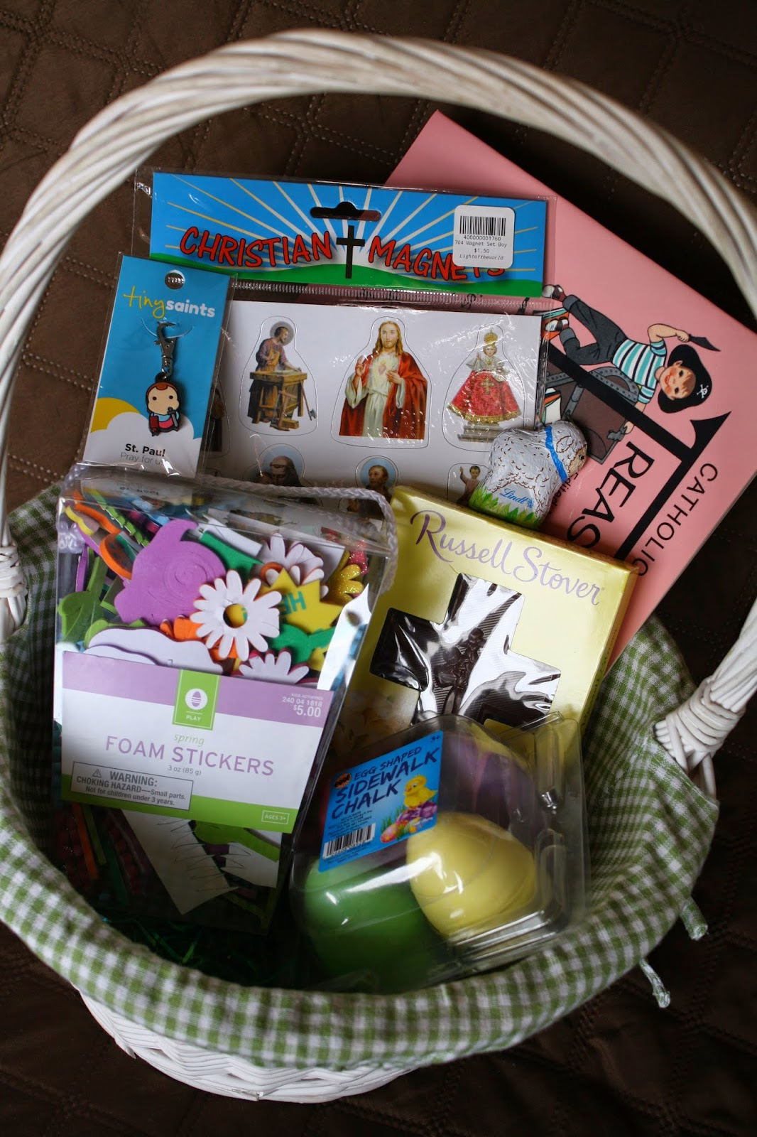 Catholic easter baskets for our kids catholic missionary family pals basket age 5 negle