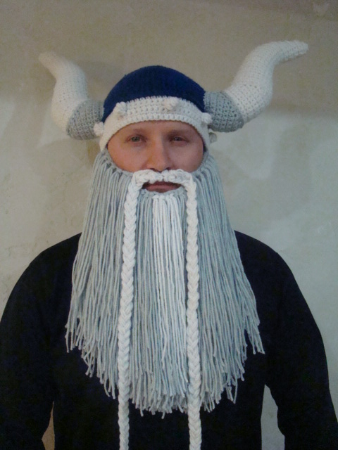 Crochet Viking Hat With Beard : Viking Hat