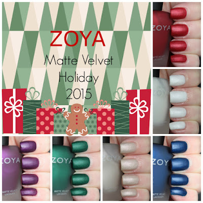 zoya matte velvet winter holiday review swatches