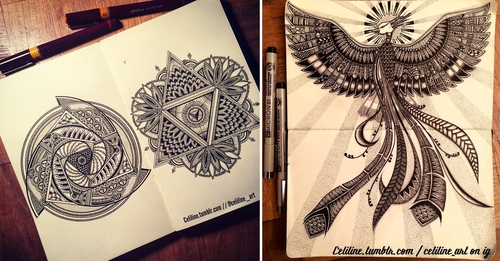 00-Celiline-Hand-Drawn-Zentangle-Doodles-Illustrations-Drawings-www-designstack-co