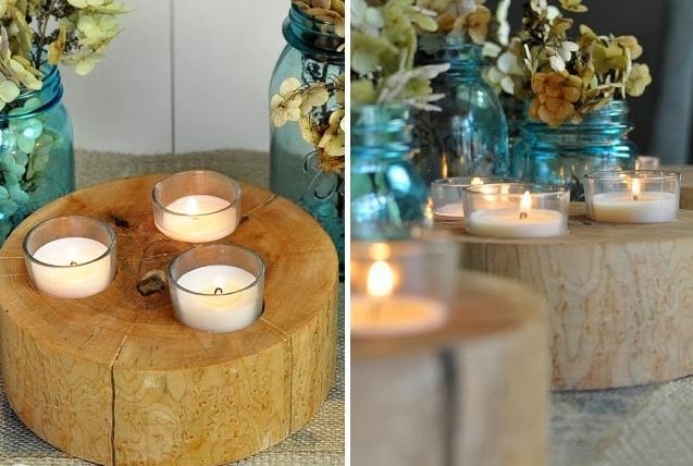 Wood Votive Holders