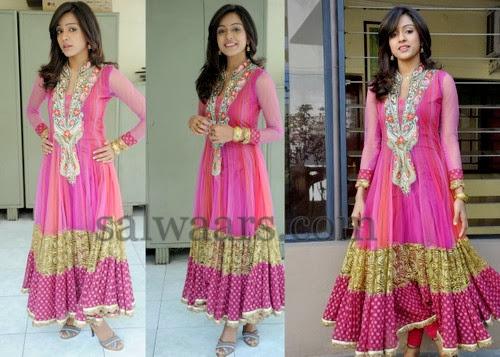 Vitika Sheru Pink Long Salwar
