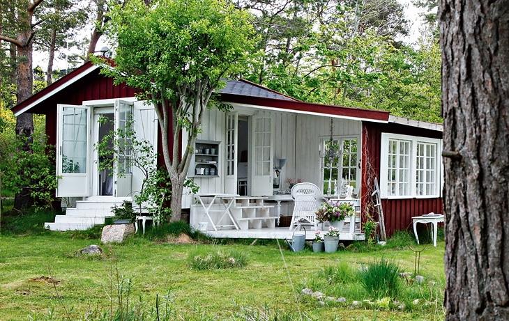 estilo rustico casa rustica de bosque en noruega. Black Bedroom Furniture Sets. Home Design Ideas