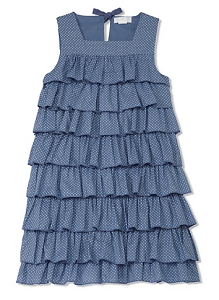 MyHabit: Save Up to 60% off Neige Girls: Natalia Dress: Lightweight woven fabric, square neckline, tiers of ruffles, back tie keyhole closure, fully lined