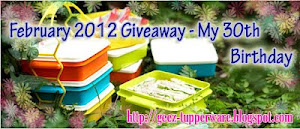 February 2012 Giveaway - My 30th Brithday