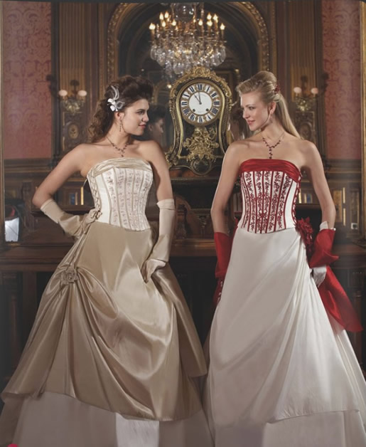 Wedding dresses in red and gold wedding dresses in jax for Red and gold wedding dress