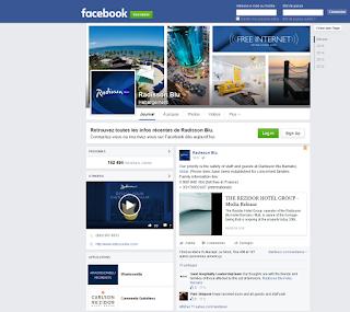 Page FB Radisson Blu