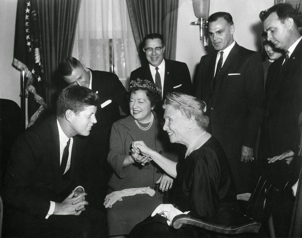 President John F. Kennedy Meets with Helen Keller