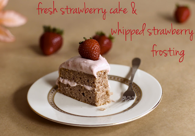 Healthy Strawberry Sponge Cake with Strawberry Frosting