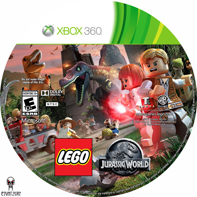 Label LEGO Jurassic World Xbox 360
