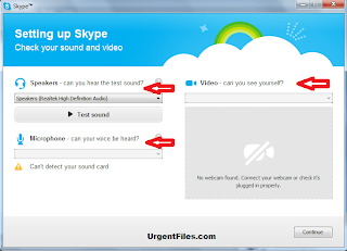 Skype Microphone, Speaker and Camera Test