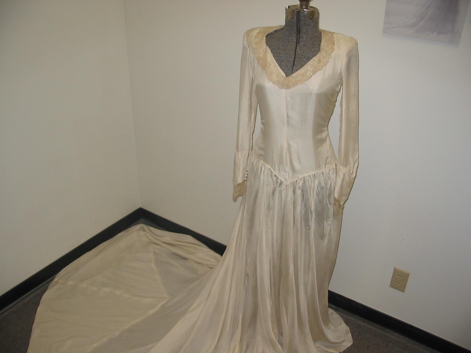 Parachute Wedding Dresses 1940s