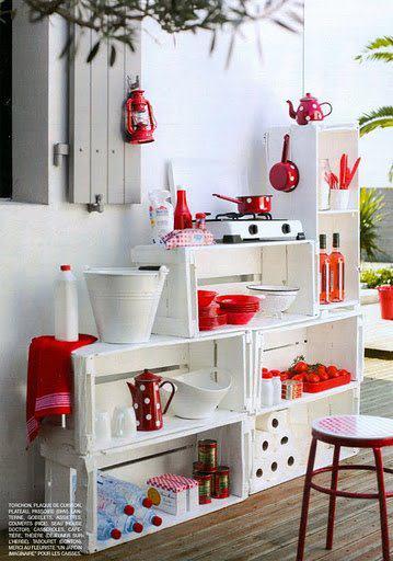Eco art muebles hecho con cajas for Muebles con cajas de fruta