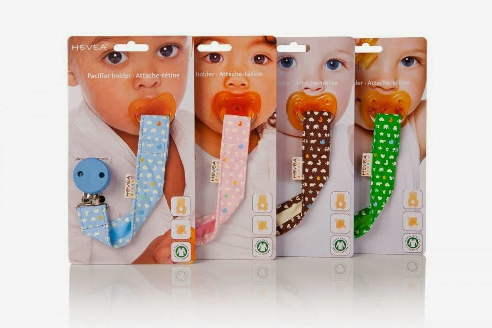 Eco Friendly Baby Toys- Hevea Pacifier Clip