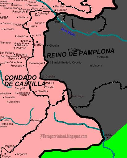 Frontera entre Castilla y Navarra 1028