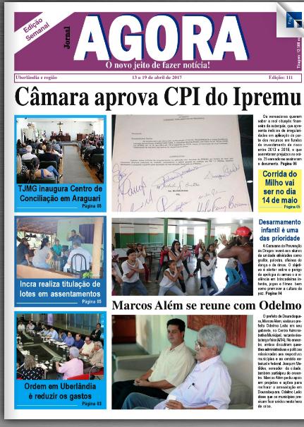 JORNAL AGORA EDIÇÃO 111-SEMANAL