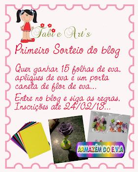 1º Sorteio blog Fabi & Art's